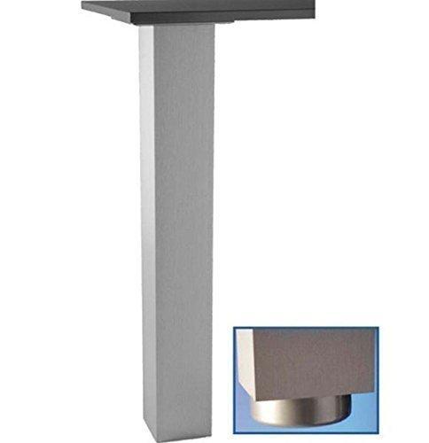Unbekannt Tischbein Metall 72, 82, 87, 110cm Stützfuss Jumbo Edelstahl 10x10cm Tragkraft max. 250kg (87cm)