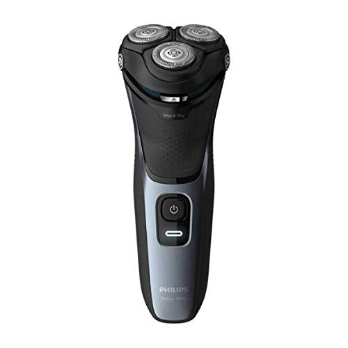 Philips Series 3000 Wet or Dry Men's Electric Shaver with a 5D Pivot & Flex Heads, Shiny Blue