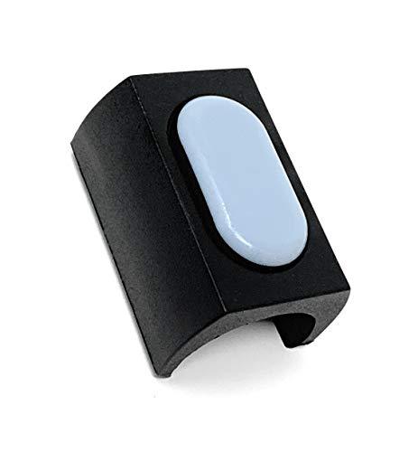 Design61 PTFE 8er Set für Freischwinger Stuhlgleiter für Rundrohr Ø 24-25 mm Möbelgleiter Klemmschalengleiter