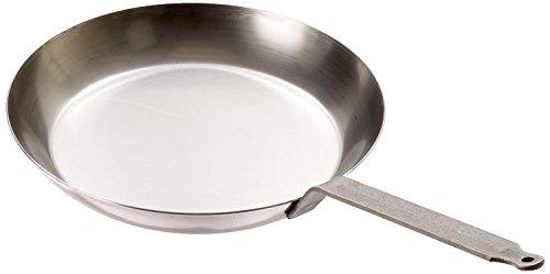 Matfer Bourgeat 62003, Gray 062003 Black Steel Round Frying Pan, 10 1/4-Inch