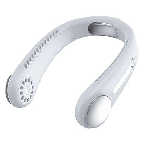 CHENPENG Ventilador de Cuello portátil, Ventilador Personal USB pequeño Recargable de 3 velocidades, Ventiladores de Cuello Colgantes sin Hojas en Forma de U, para deshierbe de Oficina