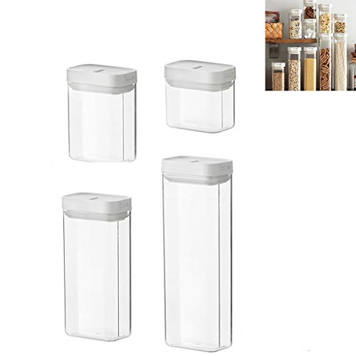 Cereal Container Storage Set, Plastic Airtight Food Storage Containers Kitchen & Pantry Organization, for Flour Sugar Pasta Baking Supplies
