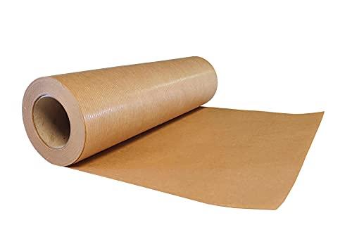 30 cm - 50 m Braun KRAFTPAPIER, Geschenkpapier, Lebensmittelpapier, Kraftpapierrolle Ideal für Kunsthandwerk, Geschenkverpackung Verpackung, Packpapier (Braun, 50)