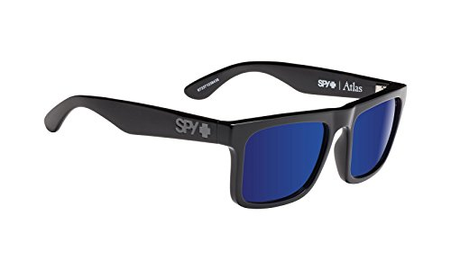 Spy Atlas Polarized Glass Sunglasses-Matte Black-Gray Green, 54mm