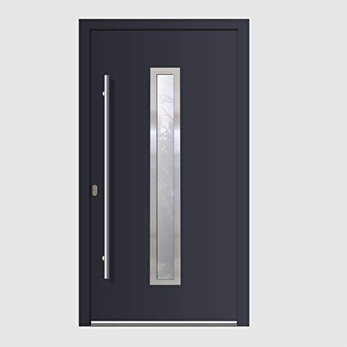 Haustür Welthaus WH75 RC2 Premiumtür Aluminium mit Kunststoff LA211 Tür 1000x2100mm DIN Links Farbe aussen anthrazit Innen weiß außengriff BGR1400 innendrucker M45 Zylinder 5 Schlüßel