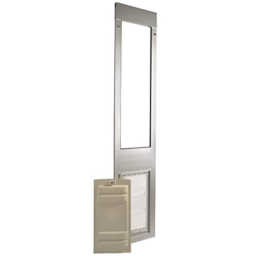 "Endura Flap Pet Door Thermo Panel 3e - Large Flap (10"" x 19""), Height Range (77.25"" - 80.25"") Brushed Aluminum Frame"