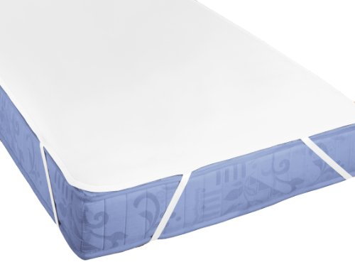 biberna Sleep & Protect Silver Protect Beschichtung Molton Matratzenschoner, Baumwolle, weiß, 100x220 cm