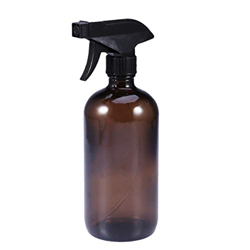 Lurrose Lot de 500 ml de vaporisateur vides Marron en verre rechargeable pour cheveux de beauté
