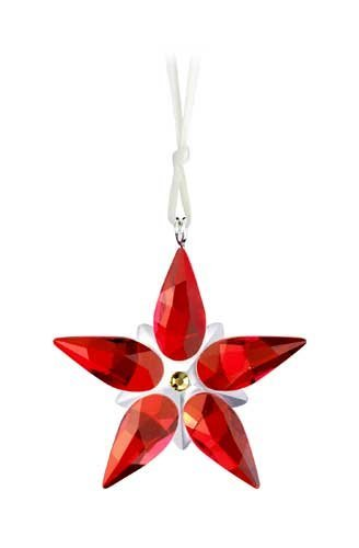 SWAROVSKI Crystal Figurine #905210, Poinsettia Small Ornament