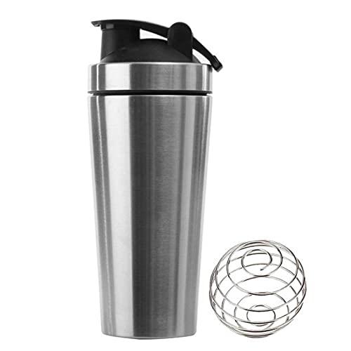NC Whey Protein Powder Sports Shaker Botella para Botellas de Agua Gimnasio Nutrition licuadora Taza de Acero Inoxidable de Aislamiento al vacío Taza de Agua