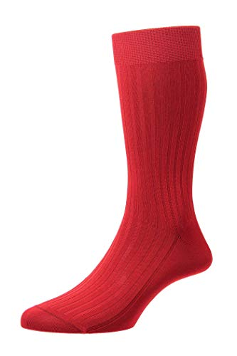 Pantherella Herren Danvers Klassische Socken Gr. Small, rot
