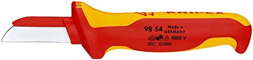 KNIPEX 98 54 Cuchillo recto para cable 190 mm