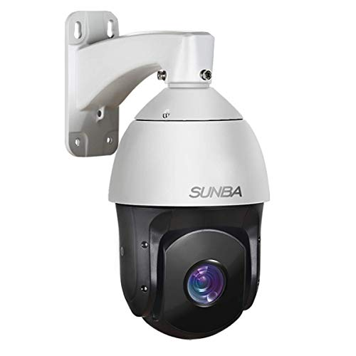 SUNBA 3MP Starlight PoE+ Outdoor PTZ Camera, 20x Optical Zoom @H.265, 24x7 Automatic PTZ Tour, Long Range Infrared Night Vision up to 800ft (601-D20X V2)