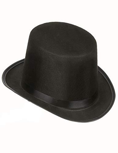 DEGUISE TOI - Chapeau Haut de Forme Noir rétro Adulte - Taille Unique
