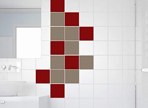 Grandora Fliesensticker 10 Stück I beige Format 15 x 22,5 cm (BxH) I Bad Küche WC Badezimmer Sticker Aufkleber Fliesen Wandsticker Fliesenaufkleber W950