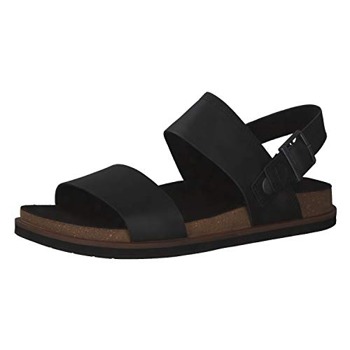 Timberland Herren Amalfi Vibes 2Band Sandalen, Black Leather, 40 EU