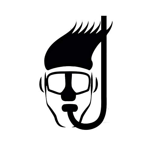 RJSYT Etiqueta Engomada del Coche De Dibujos Snorkel Head Diving Funny Fashion Car Stickers computadoras portátiles televisores automóviles 2PCS