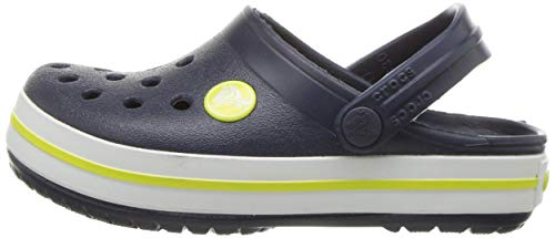 Crocs Crocband Clog K, Zuecos Unisex-Bambini, Blu (Navy/Citrus 42k), 19/20 EU