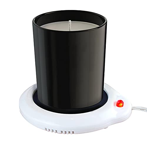 Eutuxia Candle Warmer for Home & Office. Great for Warming Up Cups, Coffee Mugs, Wax, and Beverages on Desks, Tables & Countertops. Electric Heated Plate Warms Quickly. Enjoy Hot Drinks on Cold Days.