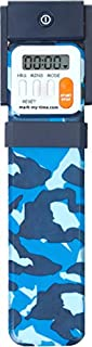 Mark-My-Time LED Book Light and Digital Reading Timer Bookmark – Blue Camouflage
