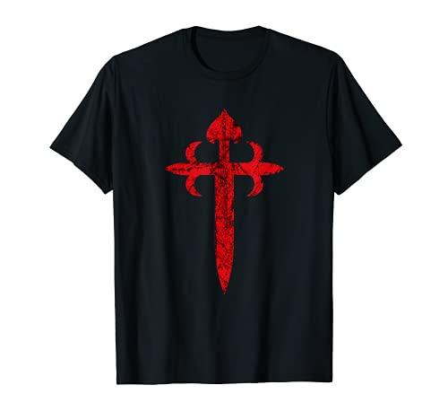 Ordre de la croix de Saint-Jacque, érodé-vieilli, chrétienne T-Shirt
