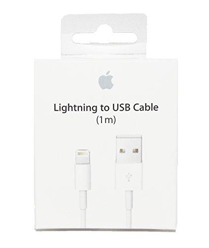 Cavo USB Lightning originale MD818ZM/A per sincronizzazione dati e caricabatterie per iPhone 5 5S 6 6 Plus/6S, 6S Plus, 7, 7 PLUS, iPad iPod IN CONFEZIONE ORIGINALE