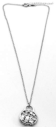 MAGICMOON - Originale collana da donna con ciondolo doppia borsetta stelline argento 925 rodiato ipoallergenico MISURA REGOLABILE raffinata