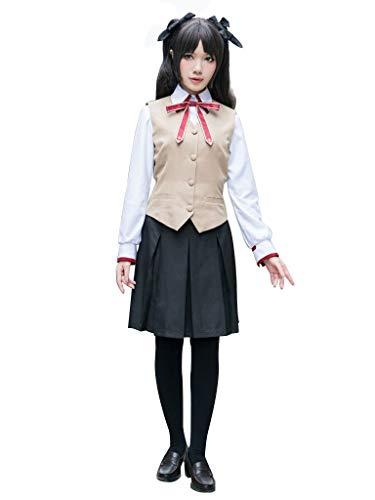 Dream2Reality The Holy Grail War Cosplay Costume Rin Tohsaka 3rd ver-Autumn School uniform X Small