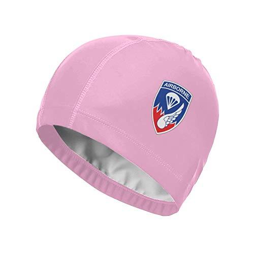 Opiadco Cap 187. Infanterieregiment Airborne High Elasticity Swim Caps für Erwachsene Männer Frauen