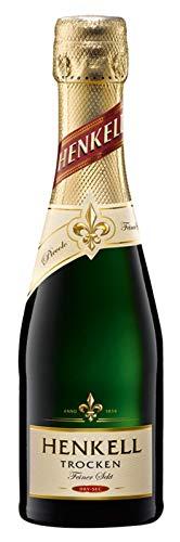 Henkell Feiner Sekt, Trocken, 11,50% Alkohol (12 x 0,2l Flaschen) – Chardonnay-Cuvée in handlicher Piccoloflasche - 2
