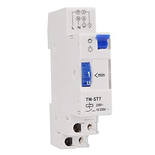 Greatangle SINOTIMER TM-ST7 220V 7 minuti timer meccanico 18mm singolo modulo su guida DIN timer scala temporizzatore strumenti bianco