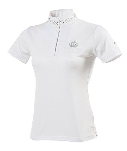 Equi-Theme/Equit'm 987012136 Couronne Polo-Shirt, kurzärmlig, weiß/silberfarbene Kontraste, Einheitsgröße