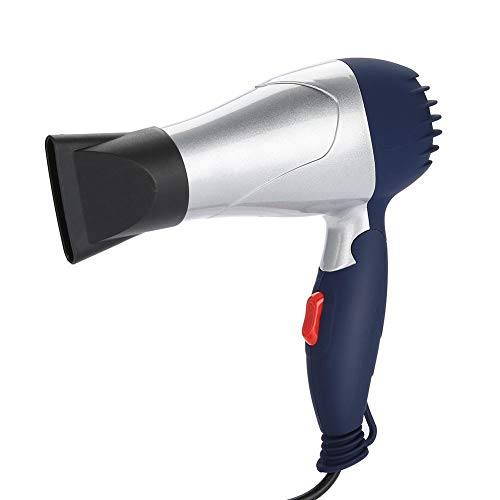 Secador de pelo pequeño con mango plegable y mini secador de pelo...