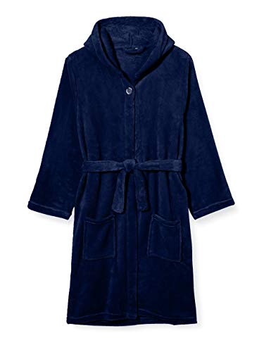 Playshoes Fleece-Bademantel, Morgenmantel Robe De Chambre, Bleu (Marine 11), 146-152
