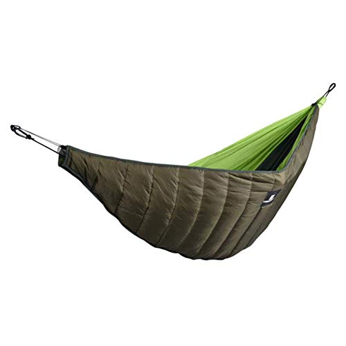 Puzzlos - Hamaca de invierno para acampada, gruesa, resistente al viento, cálida, de algodón, para viajes, para senderismo, jardín, plegable, longitud completa debajo de la manta para dormir en el patio o al aire libre