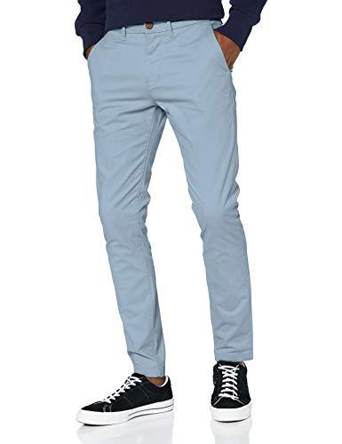 Superdry Edit Chino Pantalones, Azul (Light Blue 08h), 48 (Talla del Fabricante: 30/32)...