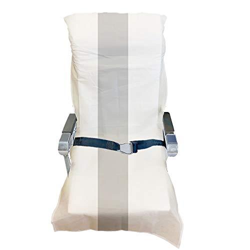 Fundas desechables para asiento de avión y teatro, limpias, higiénicas y anticontacto (fundas desechables para avión, 2 piezas + 2 fundas de asiento de inodoro desechables)