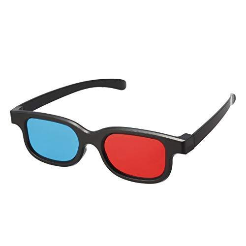 N/A - Gafas 3D pequeñas, tamaño 3D de cristal para formato rojo,...