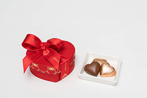 COVA MONTENAPOLEONE 1817(コヴァ モンテナポレオーネ) ハートボックス レッド チョコレート ハートジャンドゥイヤ 母の日 父の日 贈答用 お礼 ギフト お菓子 高級 手提げ付き 150g