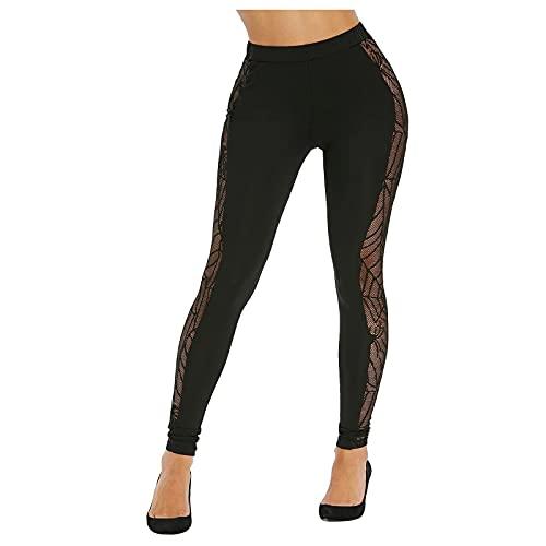 Woohooens Frauen Weihnachtsbenutzerdefinierte High Waist Leggings Damen Sport Fitness Yogahose Lange Blickdicht Leggings Yoga Hose Sporthose Leggins Fitnesshose mit Taschen Gym