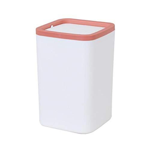 weichuang Desktop Mülleimer Mülleimer Kleiner Mülleimer Mini Desktop Aschenbecher Mülleimer Kleine Tischplatte Mülleimer für Schreibtisch Mülleimer (Farbe: Rot)