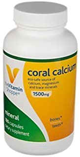 The Vitamin Shoppe Coral Calcium 1,500MG Eco Safe Source of Calcium, Magnesium Trace Minerals to Support Healthy Bones and...