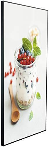 Chauffage infrarouge Ecowelle avec image - 600 W - 60 x 100 cm - Chauffage infrarouge - Fabriqué en Allemagne C 117 yaourt à fruits.