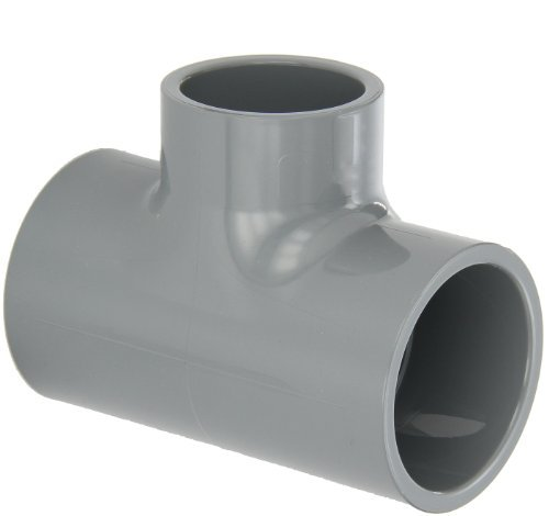 GF Piping Systems CPVC Pipe Fitting, Reducing Tee, Schedule 80, Gray, 2 x 2 x 1-1/2 Slip Socket by GF Piping Systems