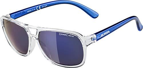 ALPINA YALLA Sportbrille, Kinder, clear-blue, one size