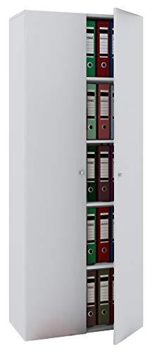 VCM Schrank Universal Kleiderschrank Mehrzweckschrank Dielenschrank Flur Möbel Holz Weiß 178 x 70 x 40 cm