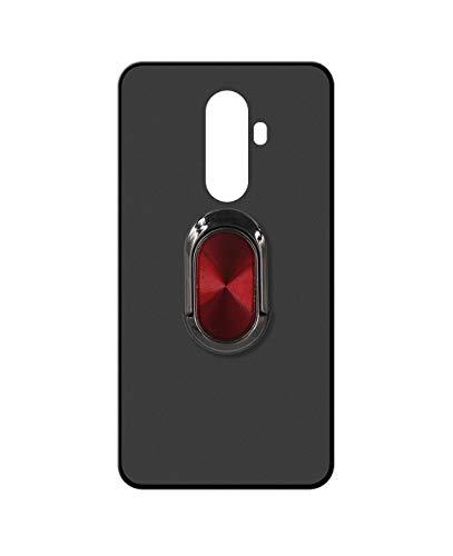 Sunrive Kompatibel mit Wileyfox Swift 2 X Hülle Silikon, 360°drehbarer Ständer Ring Fingerhalter Fingerhalterung Handyhülle matt Schutzhülle Etui Hülle (A4 Rot schwarz) MEHRWEG