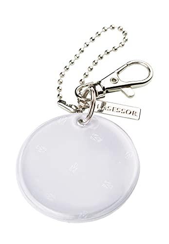 Lasessor Reflektor, Schutzengel für unterwegs, Halsbandschmuck, Anhänger in Geschenkbox verpackt - aus qualitativem 3M Scotchlite Material,weiß, EN13356