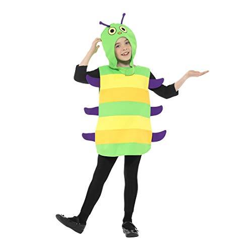 NET TOYS Encantador Disfraz de Oruga para niño y niña - Verde-Amarillo M - Encantadora Vestimenta gusanito para niño Festival Infantil y Fiesta de Disfraces