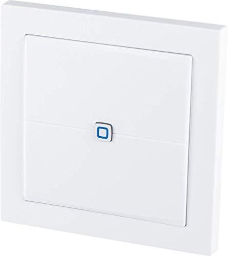 Homematic IP Smart Home Wandtaster – flach, besonders flach und flexibel einsetzbar, 155342A0, Weiß